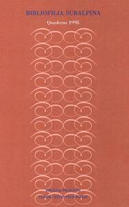 Bibliofilia subalpina. Quaderno (1998)