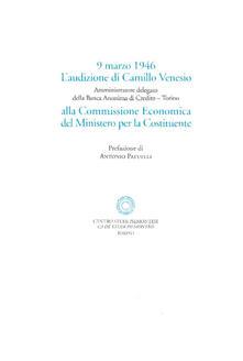 Radiosenisenews.it L' audizione di Camillo Venesio alla Commissione Economica per la Costitutente (9 marzo 1946) Image