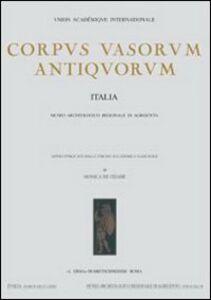 Corpus vasorum antiquorum. Italia. Vol. 72: Agrigento, Museo archeologico. Ceramica italiota a figure rosse.