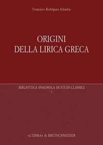 Origini della lirica greca