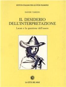 Antondemarirreguera.es Il desiderio dell'interpretazione. Lacan e la questione dell'essere Image