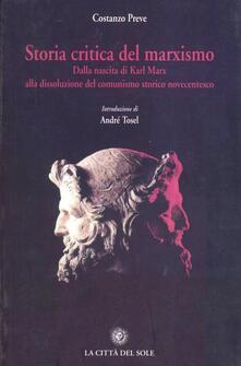 Storia critica del marxismo - Costanzo Preve - copertina