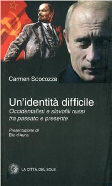 Un' identità difficile - Carmen Scocozza - copertina