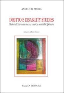 Diritto e disability studies - Angelo Davide Marra - copertina