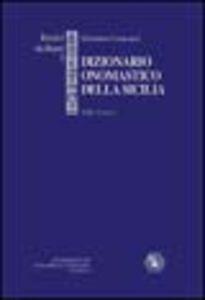 Dizionario onomastico della Sicilia