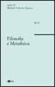Filosofia e metafisica