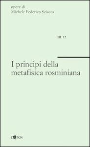 I principi della metafisica rosminiana