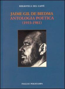 Antologia poetica (1953-1981) - Jaime Gil de Biedma - copertina
