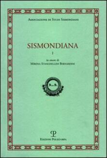 Sismondiana. Vol. 1 - copertina