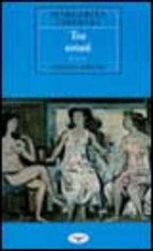 Tre estati - Margarita Liberaki - copertina