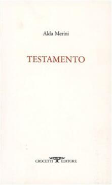 Testamento - Alda Merini - copertina