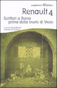 Renault 4. Scrittori a Roma prima della morte di Moro - copertina