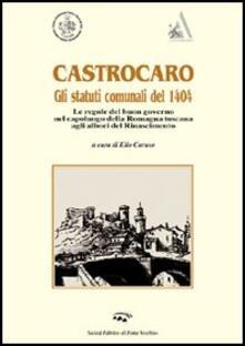 Castrocaro. Gli statuti del 1404 - copertina