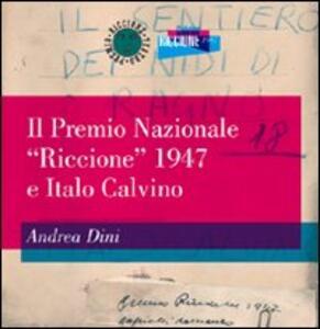 Il Premio nazionale «Riccione» 1947 e Italo Calvino