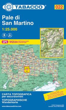 Nordestcaffeisola.it Pale di San Martino 1:25.000 Image