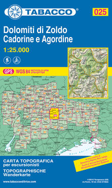 Tegliowinterrun.it Dolomiti di Zoldo, Cadorine e Agordine 1:25.000 Image