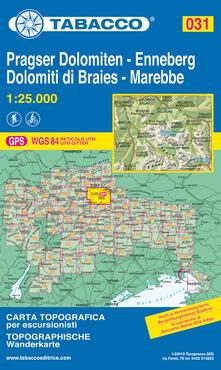 Promoartpalermo.it Dolomiti di Braies. Marebbe 1:25.000 Image