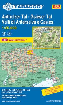 Valle di Anterselva. Valle di Casies 1:25.000