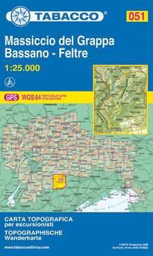 Listadelpopolo.it Monte Grappa, Bassano, Feltre 1:25.000 Image