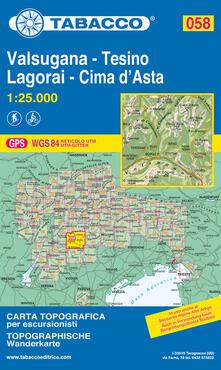 Listadelpopolo.it Valsugana e Tesino. Lagorai e Cima d'Asta 1:25.000 Image