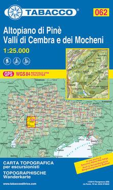Rallydeicolliscaligeri.it Altopiano di Pinè. Valli di Cembra e dei Mocheni. Carta topografica 1:25.000 Image