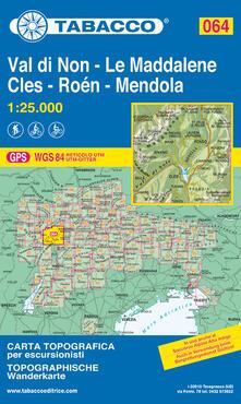 Ipabsantonioabatetrino.it Val di Non - Le Maddalene - Cles - Roén - Mendola 1:25.000 Image