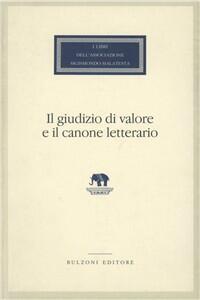 Il giudizio di valore e il canone letterario