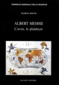 Albert Memmi. L'aveu le playdoyer