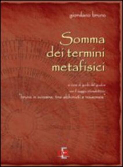 Somma dei termini metafisici - Giordano Bruno - copertina