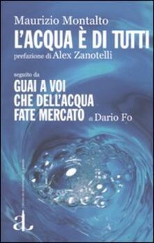 L' acqua è di tutti seguito da Guai a voi che dell'acqua fate mercato di Dario Fo - Maurizio Montalto - copertina