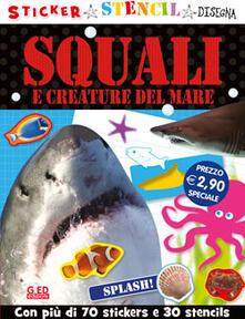 Squali e creature del mare. Stickers stencil disegna.pdf