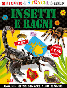 Steamcon.it Insetti e ragni. Stickers stencil disegna Image