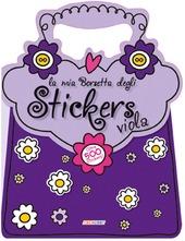 La mia borsetta degli stickers viola. Con adesivi