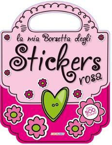 La mia borsetta degli stickers rosa. Con adesivi