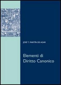 Libro Elementi di diritto canonico J. Tomás Martín de Agar