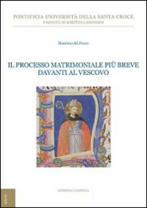 Libro Il processo matrimoniale più breve davanti al vescovo Massimo Del Pozzo