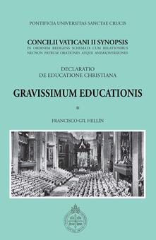 Gravissimum Educationis. Concilii Vaticanii II Synopsis Decretum de educatione christiana - copertina