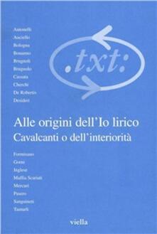 Lpgcsostenible.es Critica del testo. Vol. 4\1: Alle origini dell'io lirico. Cavalcanti o dell'interiorità. Image