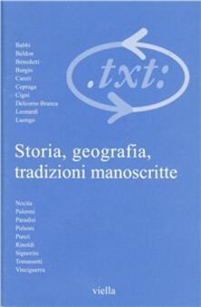 Promoartpalermo.it Critica del testo. Vol. 7\1: Storia, geografia, tradizioni manoscritte. Image