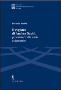 Il registro di Andrea Sapiti, procuratore alla curia avignonese