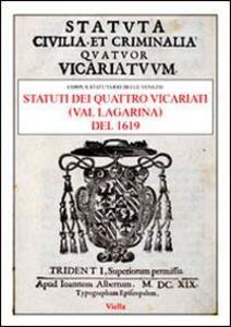 Statuti dei quattro vicariati (Val Lagarina) del 1619