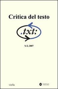 Critica del testo. Vol. 10\2