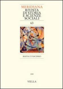 Writersfactory.it Meridiana (2008). Vol. 63: Mafia e fascismo. Image