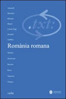 Filippodegasperi.it Critica del testo. Vol. 12\1: Romània romana. Image