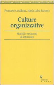 Culture organizzative. Modelli e strumenti di intervento
