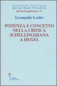Potenza e concetto nella critica schellinghiana a Hegel
