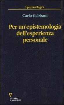 Per un'epistemologia dell'esperienza personale