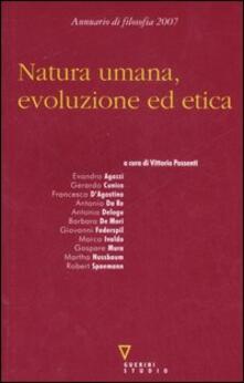 Promoartpalermo.it Natura umana, evoluzione ed etica. Seconda nvigazione. Annuario di filosofia 2007 Image