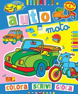 Colora auto e moto. Ediz. illustrata
