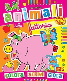 Listadelpopolo.it Colora gli animali della fattoria. Ediz. illustrata Image